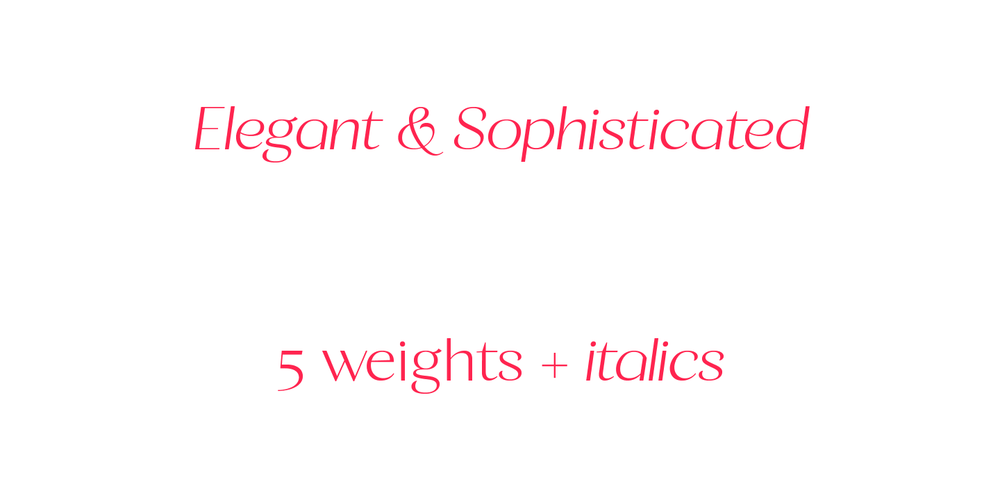 Calma Display Font
